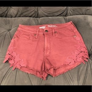 Rose colored Mossimo high rise shorts